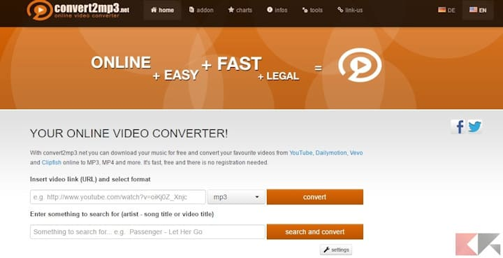 Come scaricare musica da Youtube con Convert2MP3